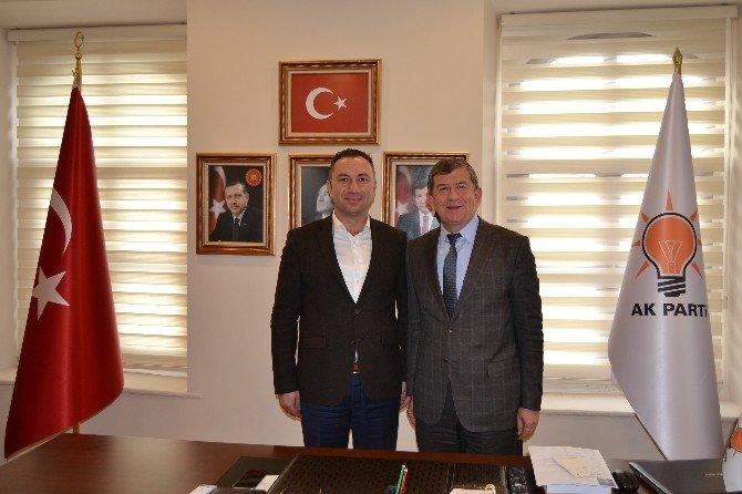 AK Partili Çelenk'ten, Başkan Revi'ye Ziyaret