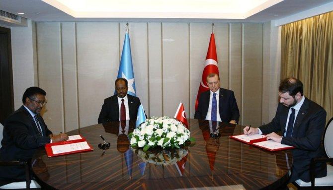 Erdoğan, Somali Cumhurbaşkanı Mahmud ile görüştü