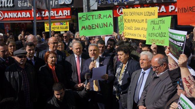 CHP'den 'Cerattepe' protestosu