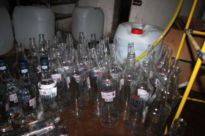 Edirne'de 636 şişe sahte rakı ele geçirildi