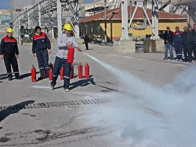 ETİ Maden Kırka Bor İşletmesi'nde Yangın Ve Deprem Tatbikatları