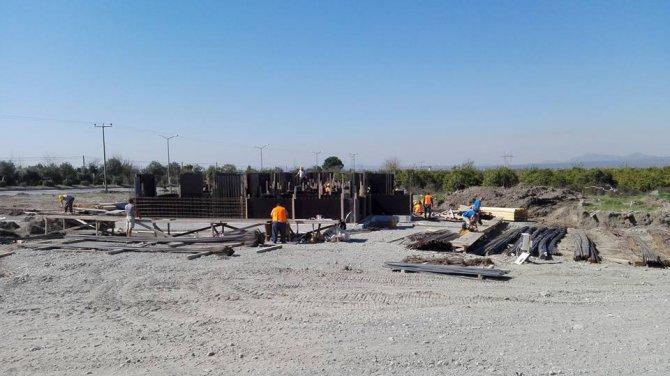 Erzin'de atık su arıtma tesisi inşaatı başladı
