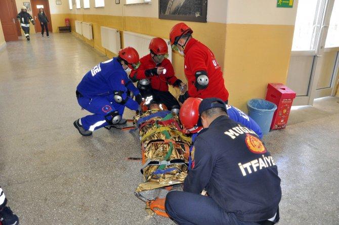 Muğla'da yangın ve deprem tatbikatı yapıldı