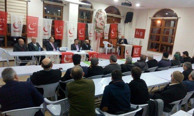 Saadet Partisi İl Divan Toplantısı Bozüyük'te Yapıldı