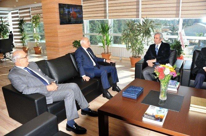 Vali Ve Başkandan KGM Bölge Müdürü Keskin'e Ziyaret