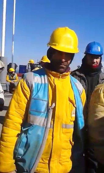 Üçüncü köprü işçileri eyleme başladı