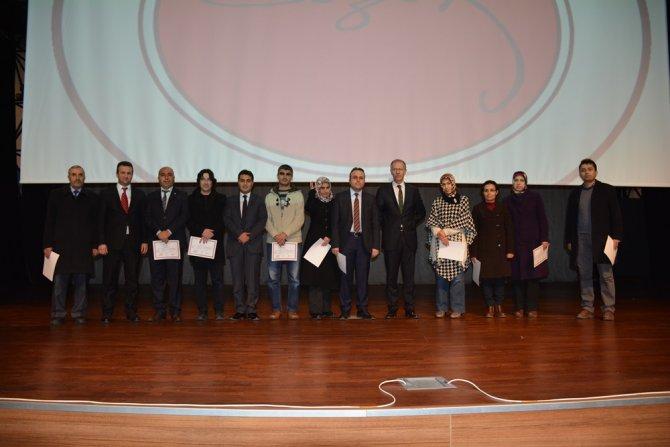 Danışman öğretmenlere sertifikaları verildi