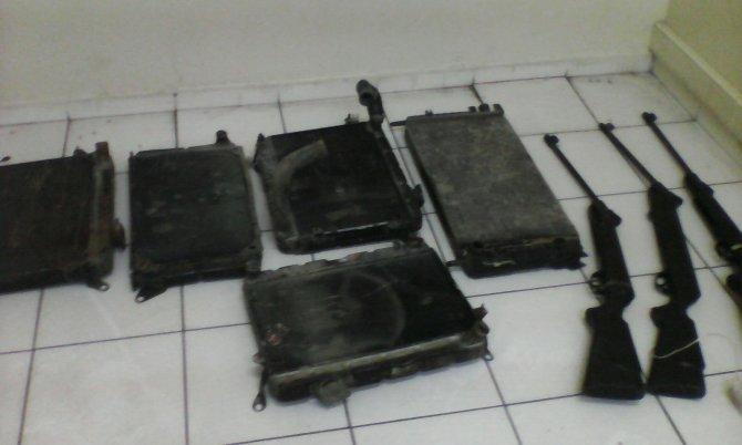 Havalı tüfek ve radyatör hırsızı 3 kişi yakalandı