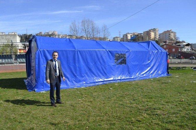 Alaplı Belediyesinden Taziye Çadırı Hizmeti