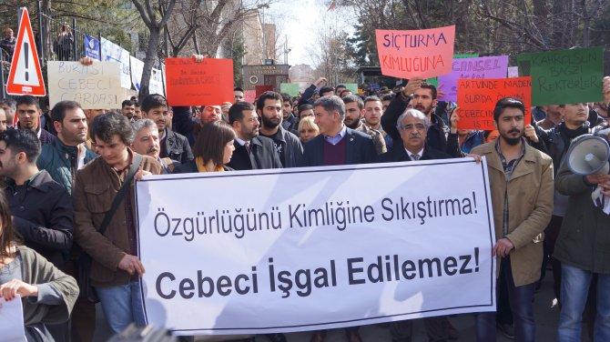 Cebeci Kampüsü'nde 'güvenlik' protestosu