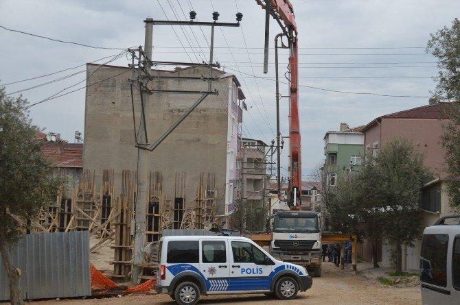 Yüksek Gerilim Hattına Değen Beton Mikserinin Operatörü Akıma Kapılıp Öldü