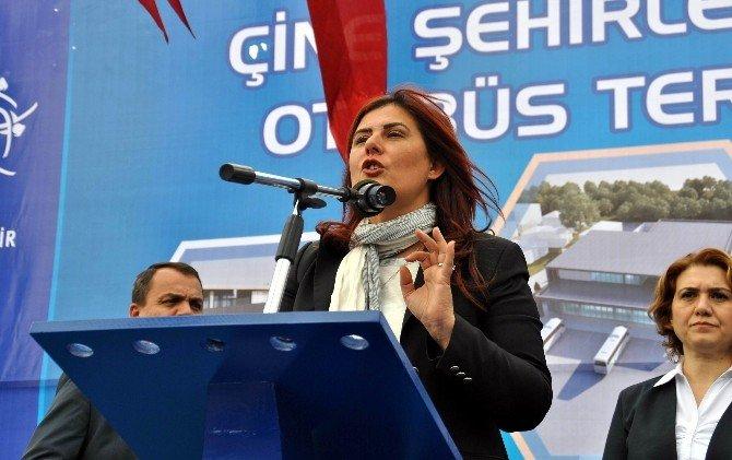Çerçioğlu, Çine Otobüs Terminalinin Temelini Attı