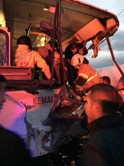 İşçileri Taşıyan Otobüs İle Tanker Çarpıştı: 20 Yaralı