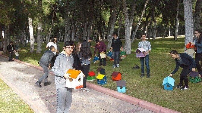 Gaziantep'te Kuşların Yuvalarını Öğrenciler Yapıyor