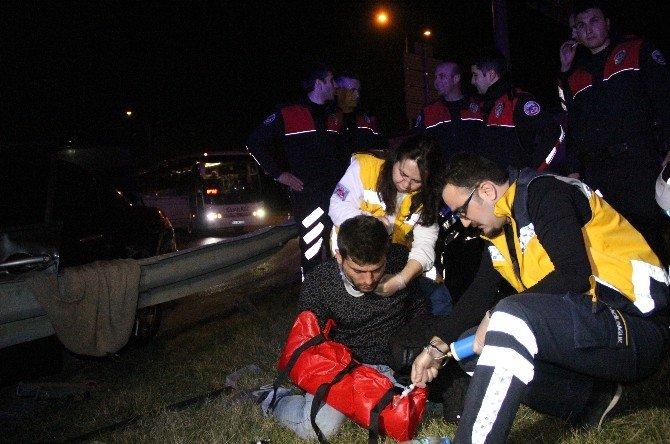 Uyuşturucu Yüklü Araç, Polisten Kaçarken Kaza Yaptı