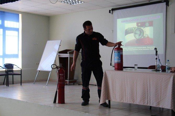 Manisa Büyükşehir İtfaiyesi Eğitim Vermeye Devam Ediyor