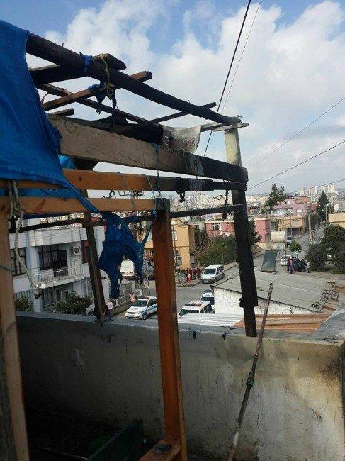 Akıma Kapılan İşçi Ağır Yaralandı