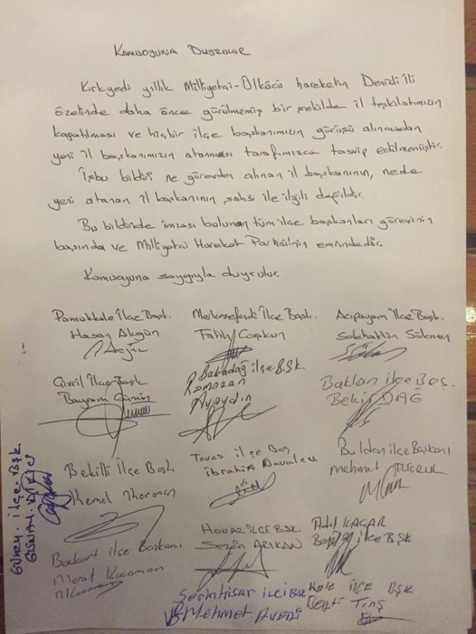Denizli'nin 15 ilçesinden MHP Genel Merkezi'ne kapatma tepkisi