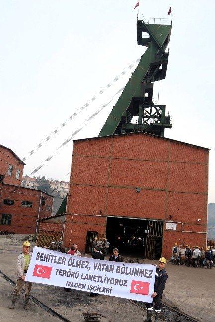 Maden İşçilerinden Teröre Tepki