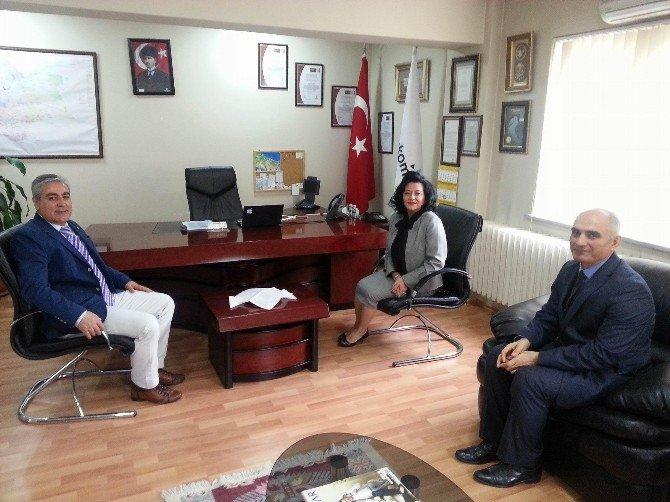 Vali Civelek'ten Türk Telekom Ve Orman İşletmeye Ziyaret
