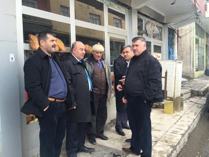 AK Parti Heyeti Esnafları Ziyaret Etti