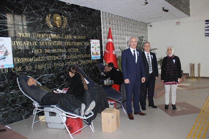 Defterdarlık Çalışanları Kan Bağışında Bulundu
