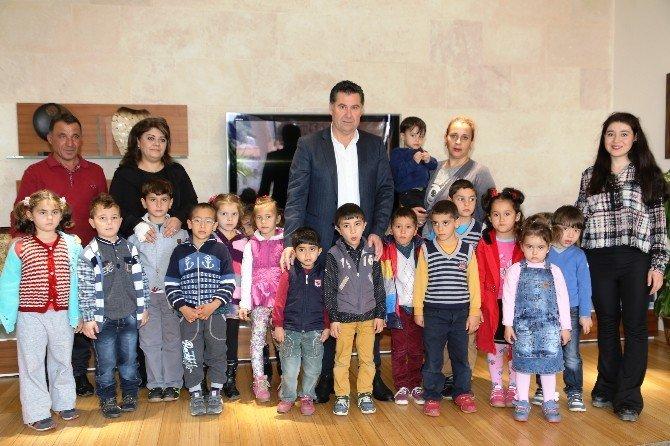 Miniklerden Başkan Kocadon'a Ziyaret