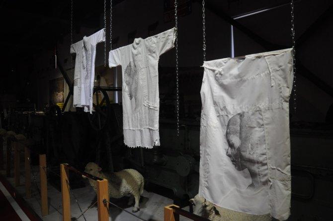 Beyaz gömlekler dile geldi, kadına şiddeti anlattı