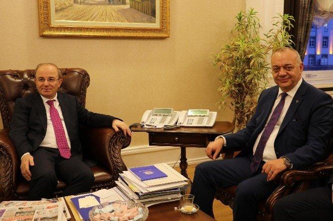 Başkan Ergün İçişleri Bakanlığı'nı Ziyaret Etti