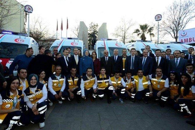 Denizli'de 7 Ambulansın Anahtarı Bakan Ramazanoğlu Tarafından Verildi