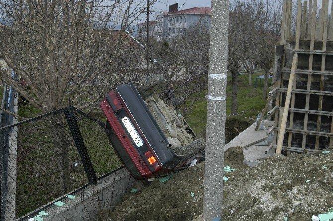 Hurdaya Dönen Otomobilden Yara Almadan Çıktı