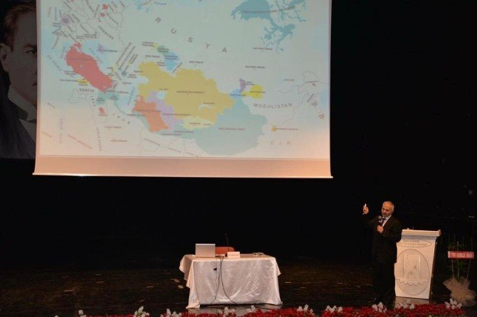 TDK Başkanı Kaçalin 'Türkçenin Coğrafyası' Konulu Konferans Verdi