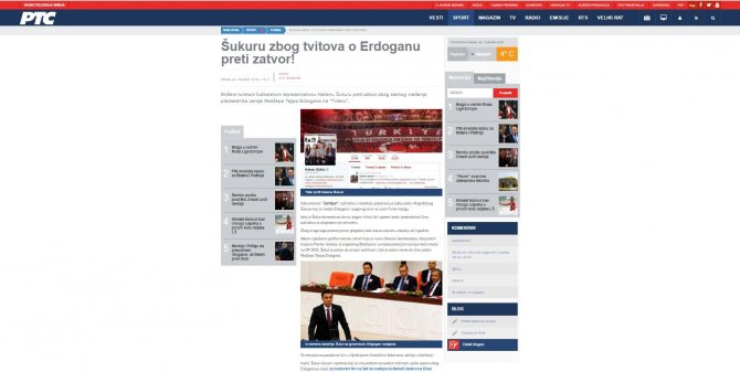 Efsane Futbolcu Hakan Şükür'e Açılan Dava Balkan Medyasında
