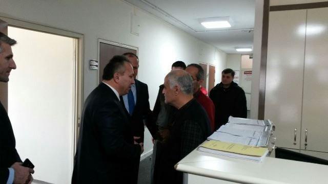 Vali Ve Başkan Yaralı Binbaşıyı Ziyaret Etti