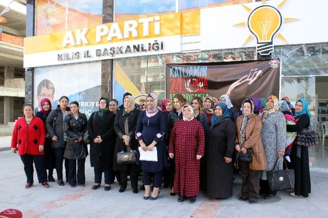 Kilis'te, Hocalı Katliamı Protesto Edildi