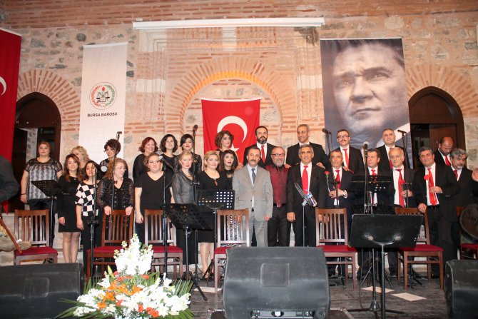 Bursa Barosu THM topluluğu'ndan türkü ziyafeti