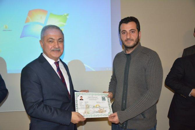 Ev ve süs hayvanı satıcısı 30 esnaf sertifika aldı