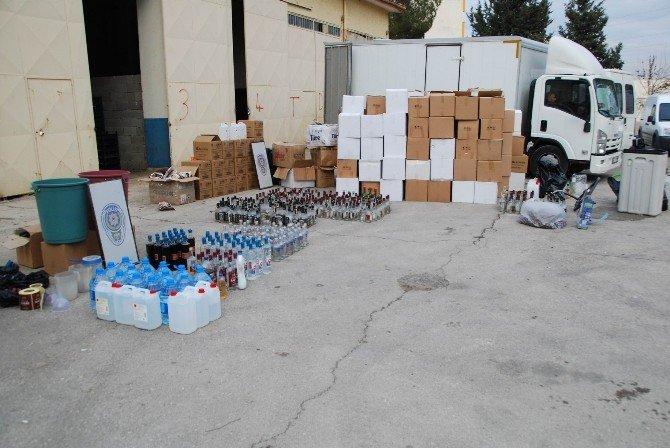 Gaziantep'te 13 Depoya Sahte İçki Operasyonu
