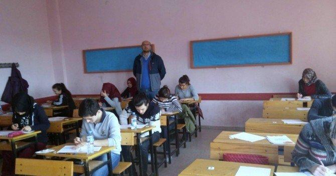 Gediz'de YGS Sınavı Provası Yapıldı