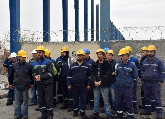 İşçiler Eylem Yaptı