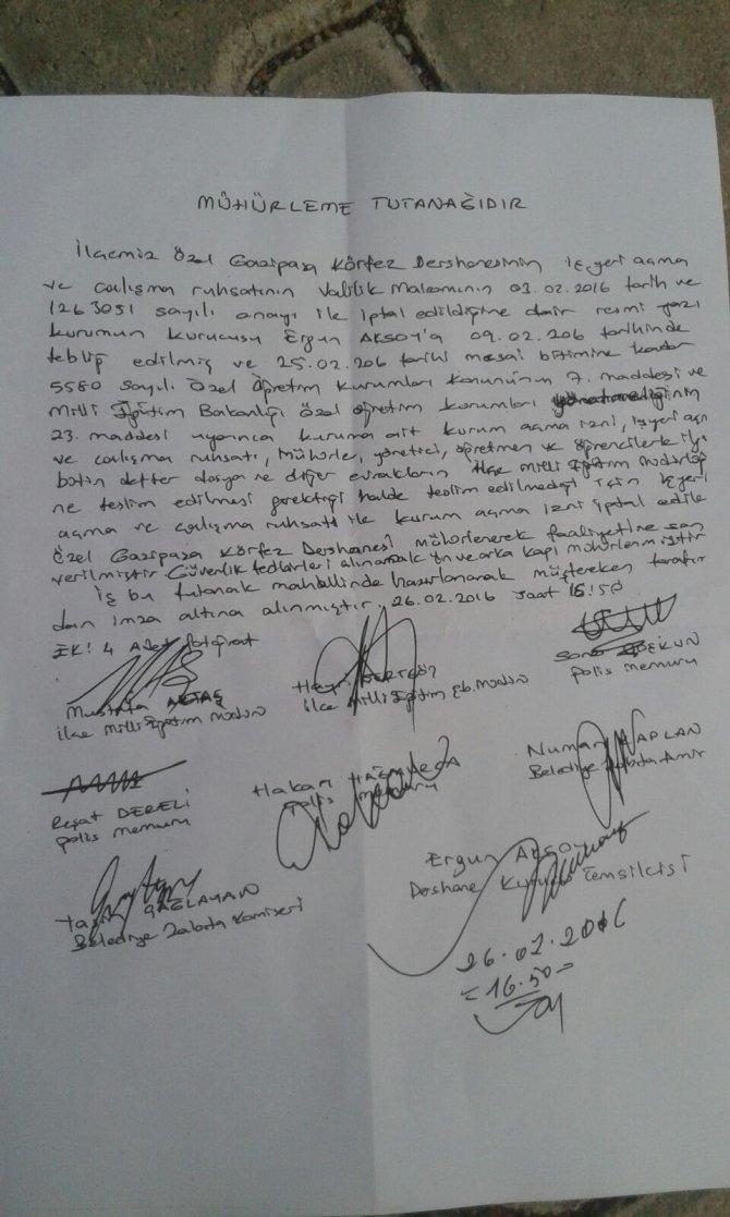MEB mahkeme kararına uymadı, mesainin bitimine 10 dakika kala dershane mühürledi