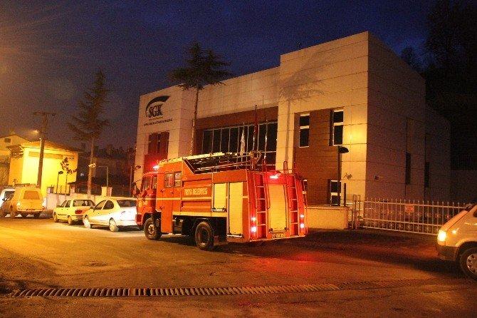 Tosya SGK Binasında Yangın