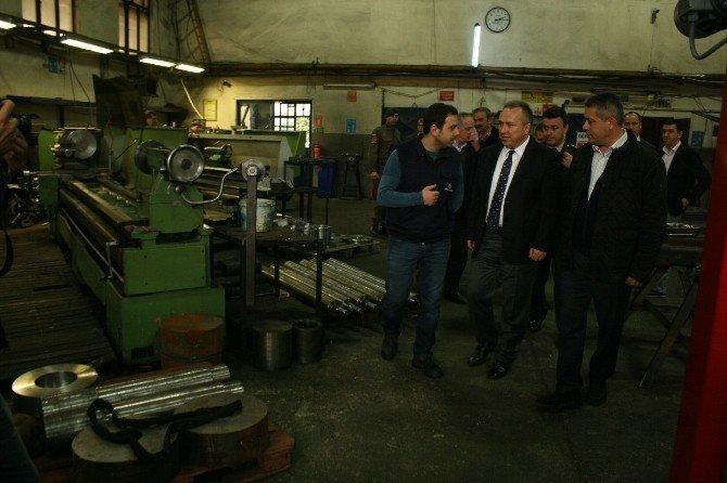 Vali Ali Fidan Sanayi Kuruluşlarına Ziyaret Etti