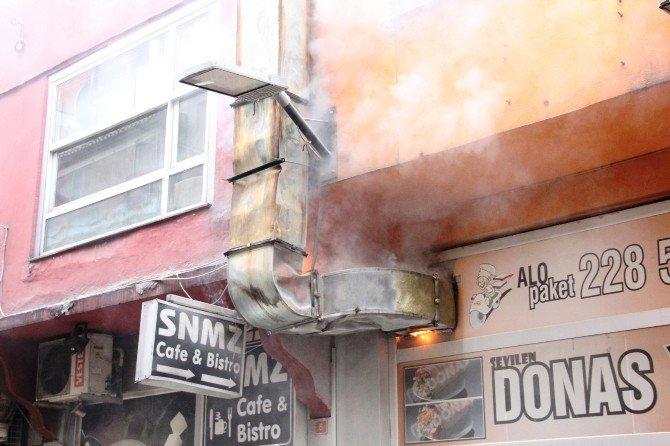 Restorandaki Baca Yangını Korkuttu