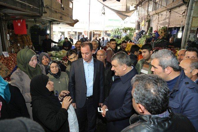 Başkan Gürkan, Kasap Pazarını Gezdi