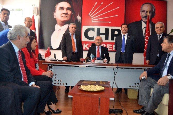 CHP Genel Başkanı Kılıçdaroğlu Kayseri'de
