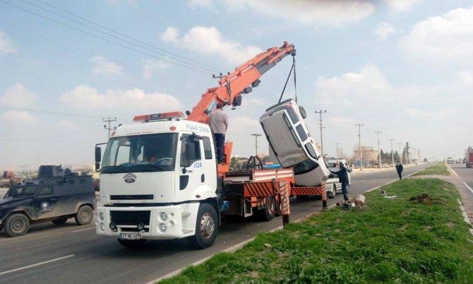 Nusaybin'de trafik kazası: Bir kişi yaralı