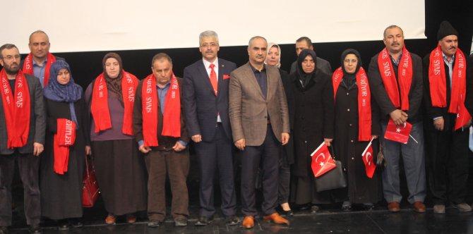 Sivas'ta terör şehitleri anıldı, aileleri gözyaşlarına boğuldu