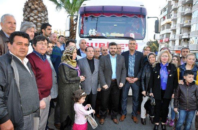 AK Parti Yardım Tır'ı Kilis'e Uğurlandı