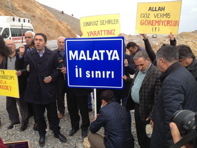 CHP'den, Malatya-Adıyaman arasında 'il sınırı' eylemi